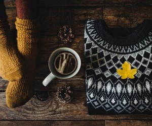 fall, autumn, and blue sweater image