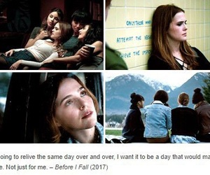 before i fall, zoey deutch, and lauren oliver image