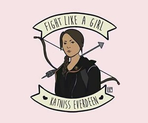 katniss everdeen, fight like a girl, and hunger games image