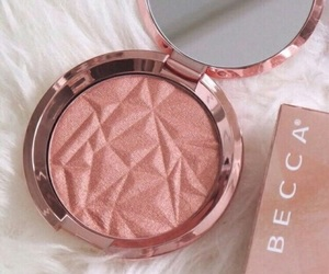 makeup, pink, and becca image