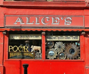 red, store front, and alice's image