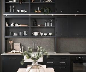 black, decoration, and interior image