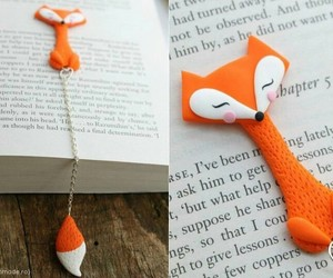 book, bookmark, and fox image