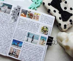 journal, diary, and art image