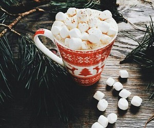 christmas, cup, and mashmallow image