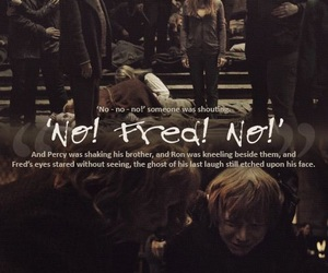 death, harry potter, and weasley image