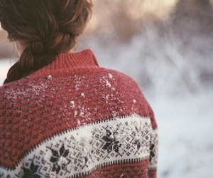 girl, snow, and winter image