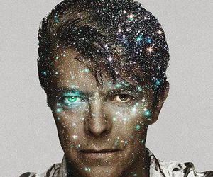 art, david bowie, and galaxy image