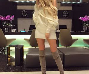 boots, blonde, and fashion image