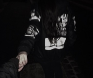 black, couple, and grunge image