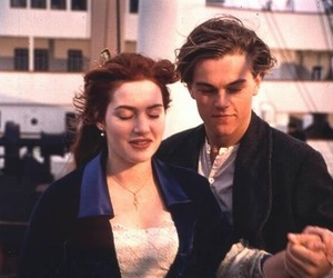 titanic, leonardo dicaprio, and love image