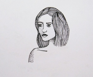 draw, pen, and girl image