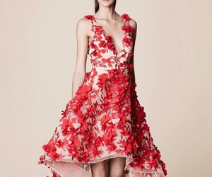 dress, red, and dresses image