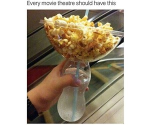 popcorn, funny, and movie image