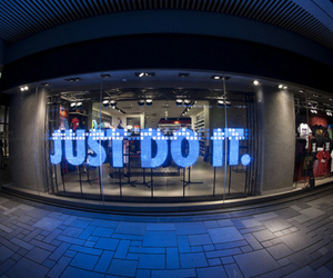 nike, Just Do It, and blue image