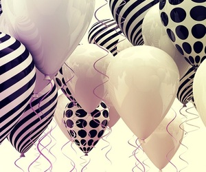 balloons, wallpaper, and black image