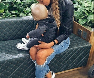 fashion, girl, and family image