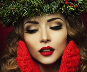 makeup and christmas image