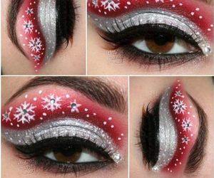 christmas, makeup, and beautiful image