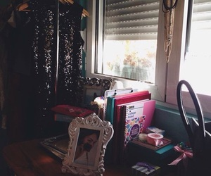books, girlroom, and dresses image