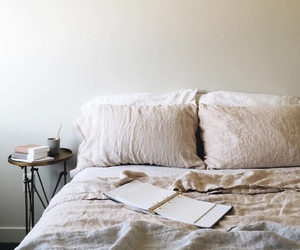 bed, bedroom, and minimalism image