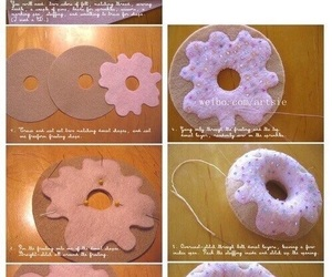 diy, donuts, and crafts image
