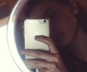 bedroom, big lips, and brown hair image