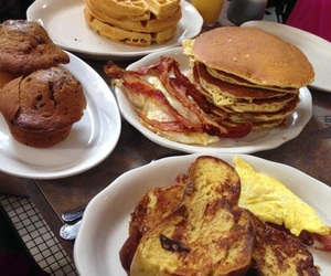 bacon, bread, and breakfast image