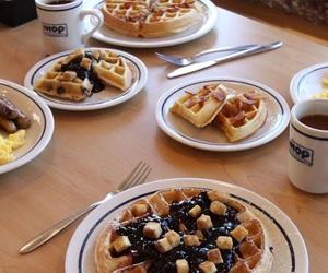 bacon, breakfast, and milk chocolate image