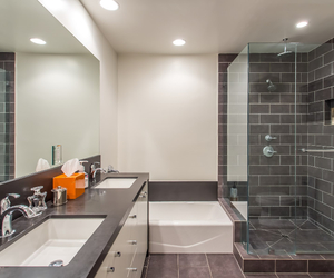 bath, bathroom, and california image