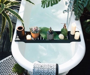 plants, bath, and bathroom image