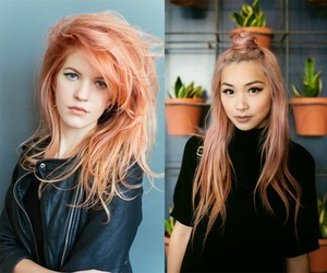 beautiful, color hair, and girl image