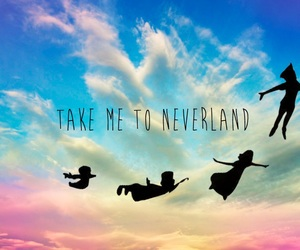 neverland, sky, and fly image