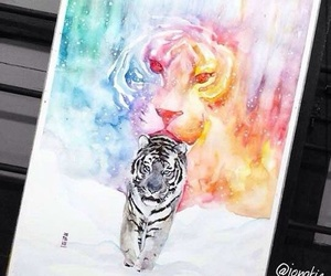 drawing and tiger image
