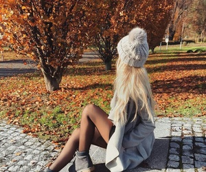 autumn, girl, and style image