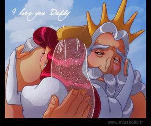 ariel, king triton, and fable image