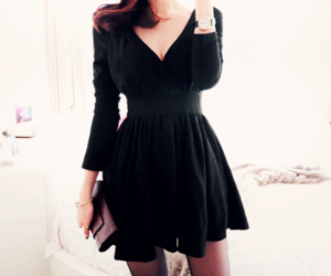 dress, black, and cool image