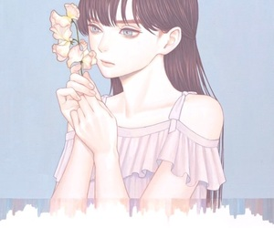 aesthetic, flower, and anime image