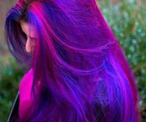 hair, purple, and colors image