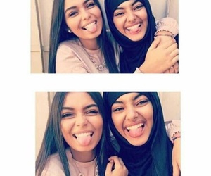 hijab and friendship image