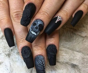 black, gothic, and death image