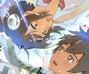 kimi no na wa, your name, and anime image