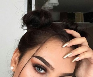 beautiful, eyebrows, and face image