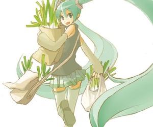 anime girl, blue hair, and hatsune miku image