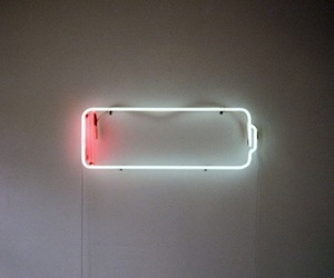 battery, light, and neon image