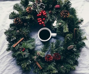 christmas and coffee image