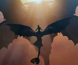 dragon, toothless, and hiccup image