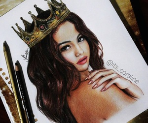 Queen, selena gomez, and drawing image