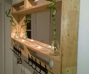 home, mirror, and pallets image