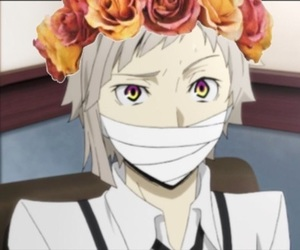 anime, bungou stray dogs, and flower crown image